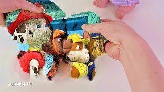 Куклы пупсики играют в волшебный песочек. Угадываем мультики Маша и Медведь Барбоскины / Зырики ТВ